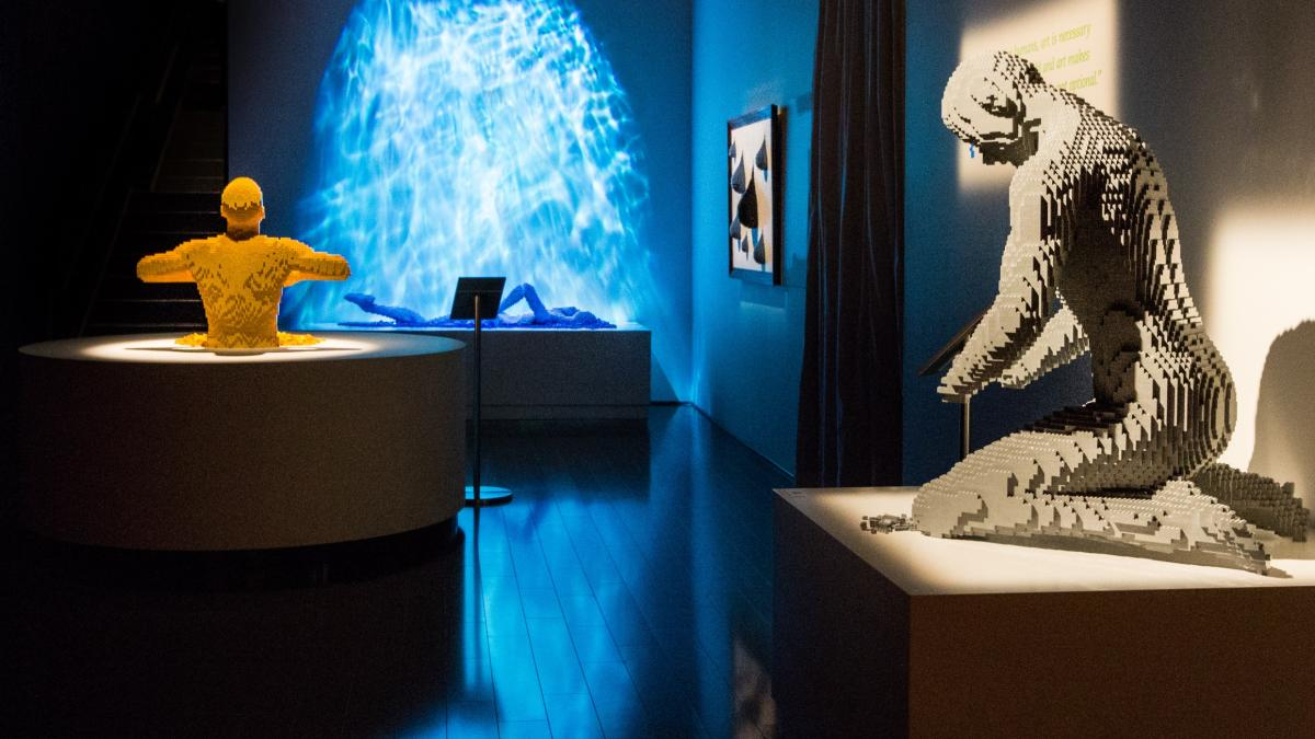 "Installation view of ""The Art of the Brick."""
