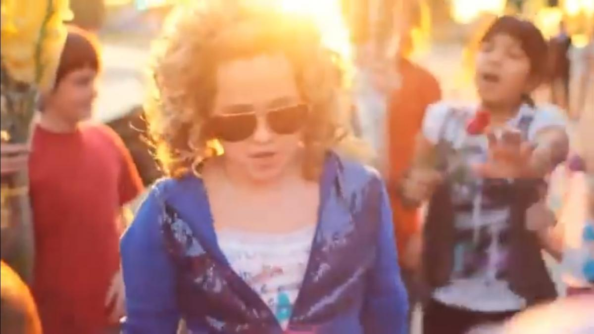 Kesha in CJ Fam video - credit: YouTube