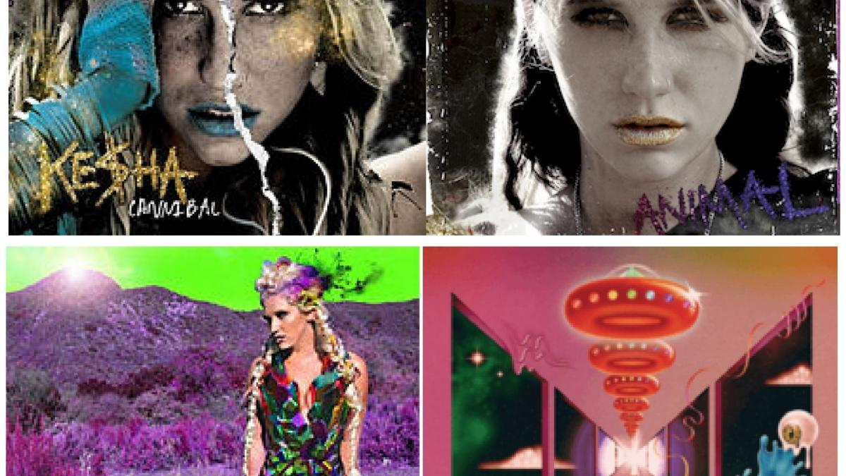 Kesha album covers collage