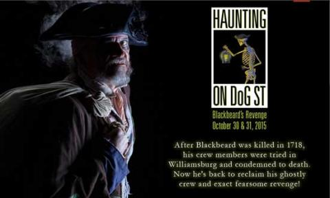 "2015 advertisement for ""Haunting on DoG Street"""