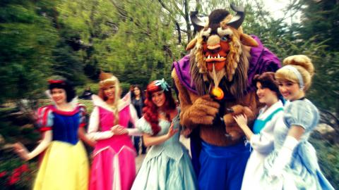 Disney princesses and the Beast (actors)