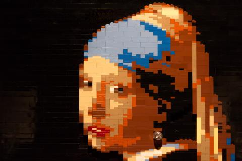 Nathan Sawaya, Girl with a Pearl Earring (after Vermeer).